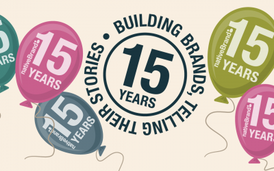 Celebrating 15 years of building brands and telling their stories…